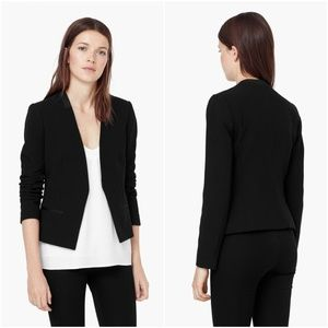 Mango | Satin Trim Open Blazer